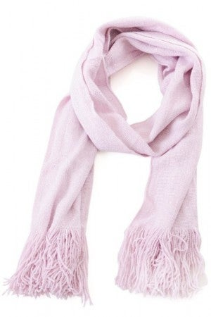 Fringed Oblong Scarf in Pink
