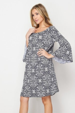 HoneyMe Navy and White Ohio Tunic Dress