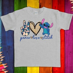 Youth Peace | Love | Stitch Graphic Tee