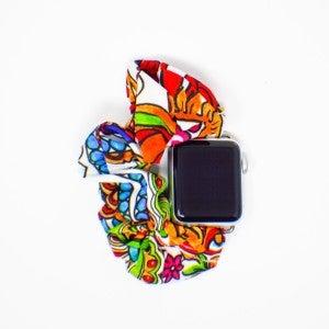 Bright Paisley Scrunchie Watchband - 42/44mm