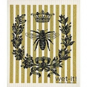 Wet It Cloths | French Bee Black and Gold Swedish Cloth