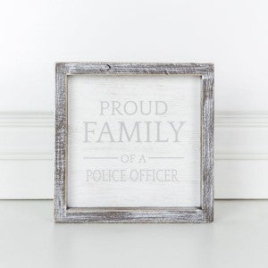 Police Officer Framed Sign