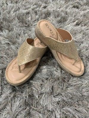 Corkys Gold Roman Sandals