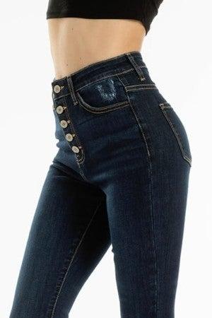 Kancan Super High Rise Super Skinny Jeans Dark