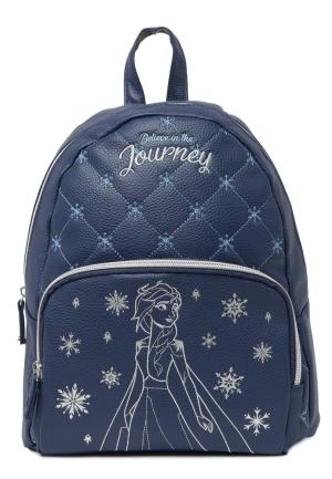 Elsa Quilt Backpack in Blue