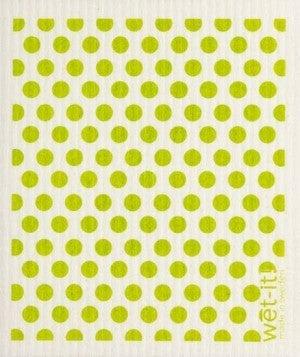 Wet It Cloths | Dots and Dots Green Swedish Cloth