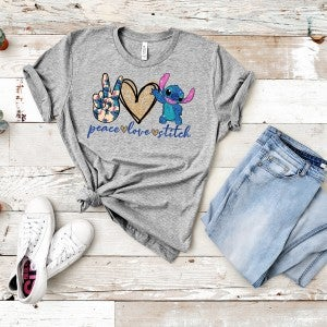 Peace | Love | Stitch Graphic Tee