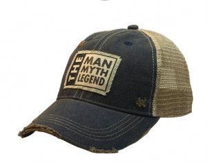 """""""The Man The Myth The Legend"""" Distressed Trucker Cap"""