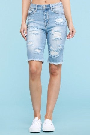 Judy Blue Light Wash Cut off Bermuda Shorts