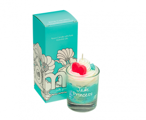 Jade Princess piped Glass Candle