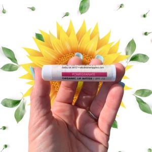 Organic Lip Butter - Pomegranate SPF15