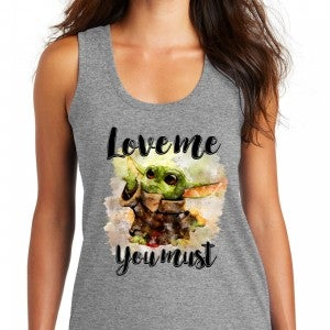 Love Me You Must Graphic Tank