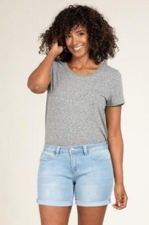 Royalty For Me Bermuda Mid Rise Denim Shorts
