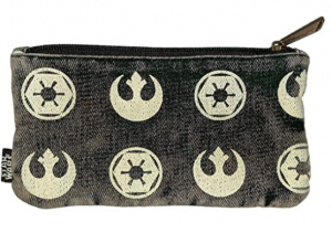 LOUNGEFLY X STAR WARS REBEL IMPERIAL SYMBOL POUCH