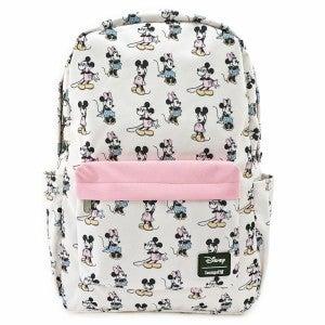 Loungefly Disney Minnie Mickey AOP Nylon Backpack