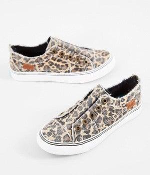 "Blowfish Leopard Print ""City Kitty"" Canvas Sneakers"