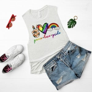 Peace | Love | Pride Graphic Tank