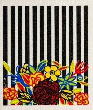 Wet It Cloths | Striped Floral Swedish Cloth