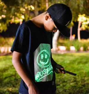 Kids Glow in the Dark Interactive T-Shirt