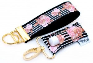 LippyClip | Black and Blush Floral