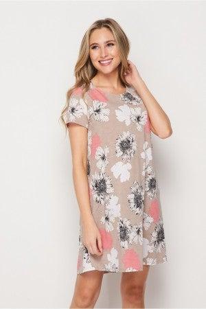 HoneyMe Sandy Floral Dress with Pockets