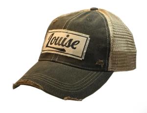 """Louise"" Distressed Trucker Cap"