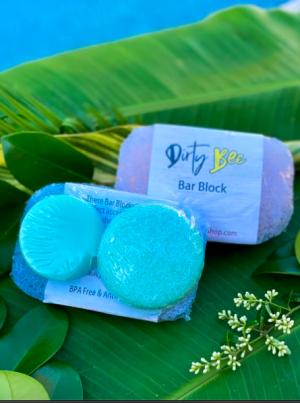 Dirty Bee Shampoo & Conditioner Bar Set with Bar Block | Raindrops