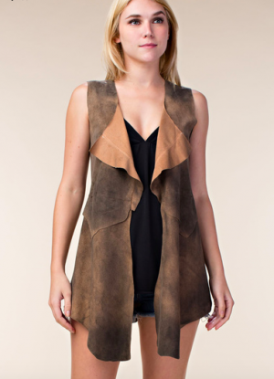 Vocal Natural Suede Vest