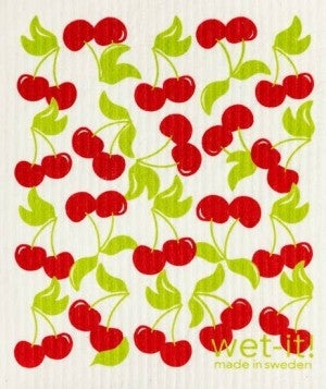 Wet It Cloths | Sweet Cherry Swedish Cloth
