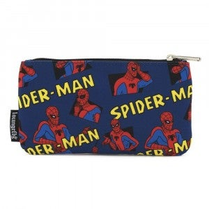 LOUNGEFLY X MARVEL SPIDERMAN CLASSIC AOP NYLON POUCH