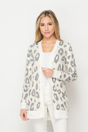HoneyMe Leopard Snuggles Cardigan