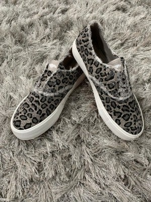 Rocket Dog Grey Leopard Slip-on Sneaker