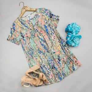 Sage Watercolor Dress