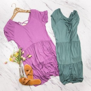 Summer Peplum Dress