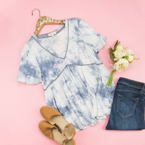 Daydreamin' Dip Dyed Blouse