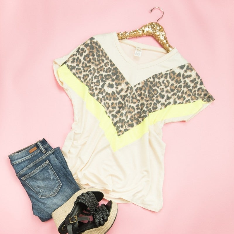 Neon Leopard Tee *all sales final*