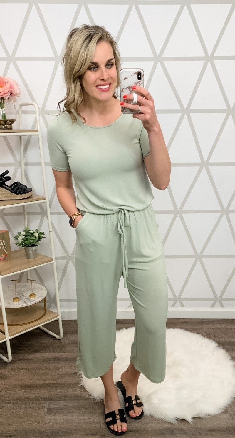 Happy Hour// Classic Tie Jumpsuit *all sales final*