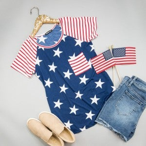 American Flag Tee *ALL SALES FINAL*