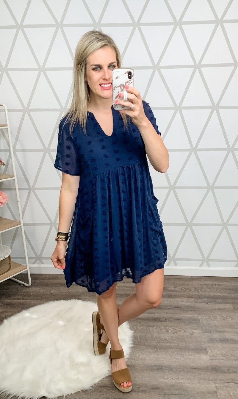 Summer Swiss Navy Dress