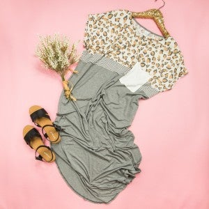 Easy Leopard Gray Maxi