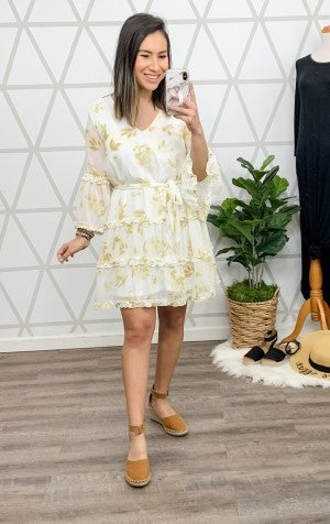 Delicate Spring Ruffle Dress