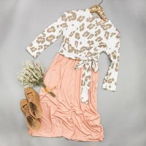 Blush Leopard Tie Dress