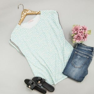 Aqua Spotty Dot Blouse