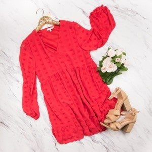 Red Swiss Dot Dress