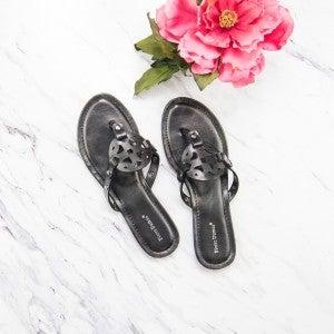 Designer Inspired Black Sandals