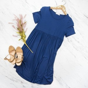 Simple Navy Dress *all sales final*
