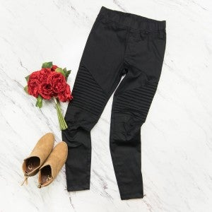Daring Black Moto Jeggings