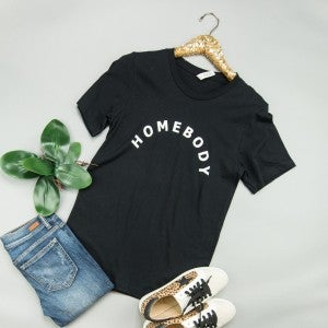 Homebody Black Tee *all sales final*