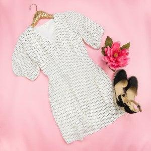 Polka Dot Ivory Dress *ALL SALES FINAL*