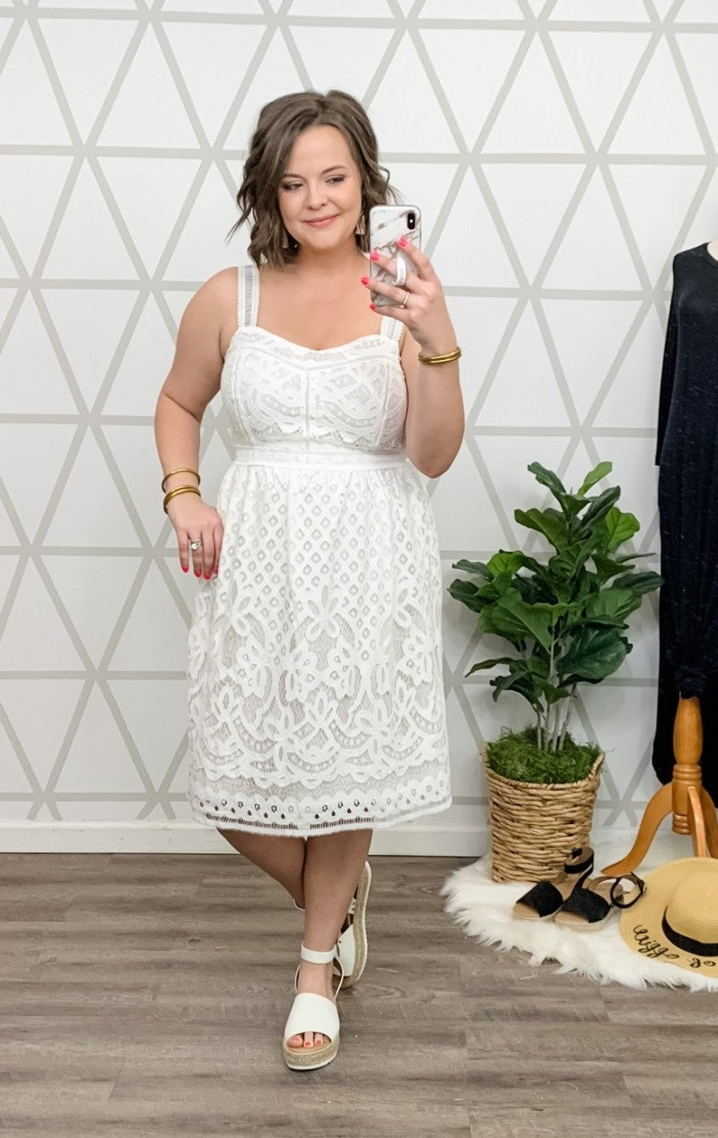 Summer White Lace Dress *all sales final*